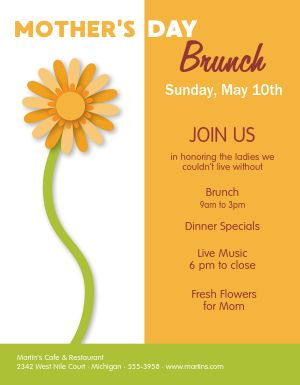 Mothers Day Cafe Flyer