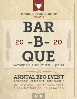 BBQ Event Flyer