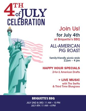 July Fourth BBQ Flyer