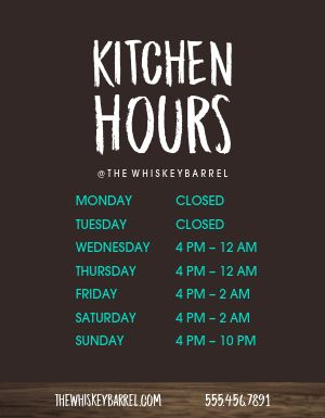 Kitchen Hours Flyer