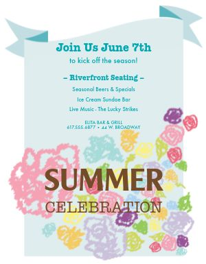Summer Celebration Flyer