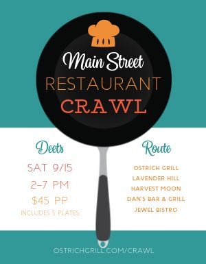 Restaurant Crawl Flyer