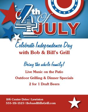 July Fourth Celebration Flyer