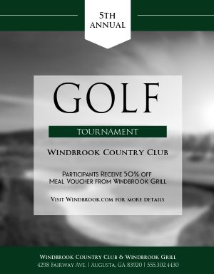 Country Club Golf Flyer