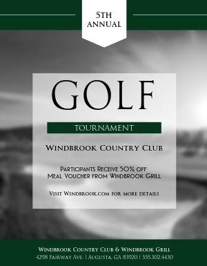 Country Club Golf Flyer