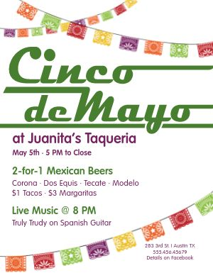 Happy Cinco de Mayo Flyer