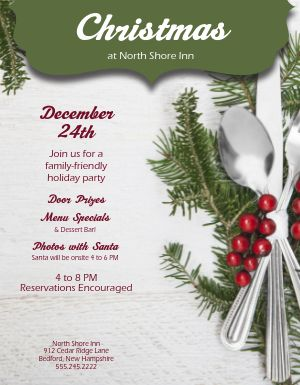 Christmas Party Event Flyer
