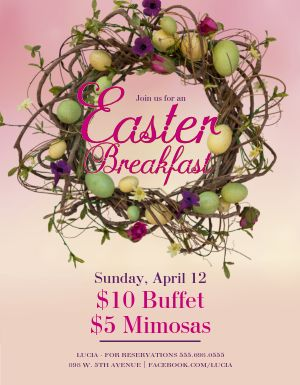 Easter Breakfast Flyer