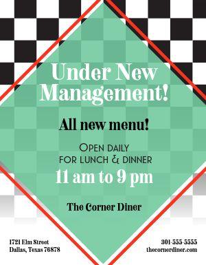 Diner Hours Flyer