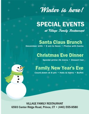 Winter Events Flyer