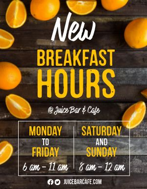 New Breakfast Hours Flyer