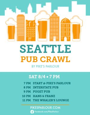 City Pub Crawl Flyer