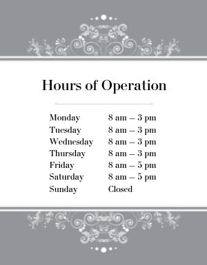 Hours of Operation Flyer