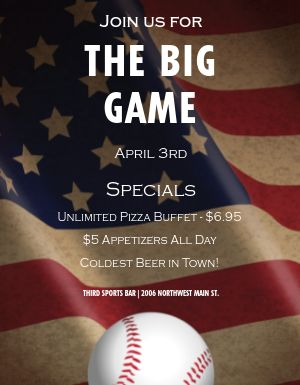 Baseball Opening Day Flyer