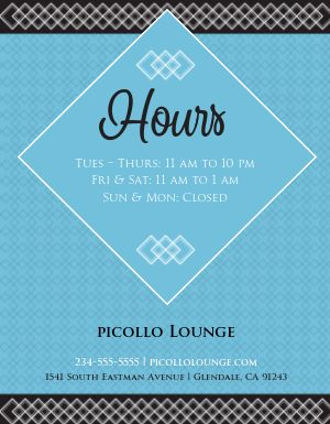 Custom Business Hours Flyer