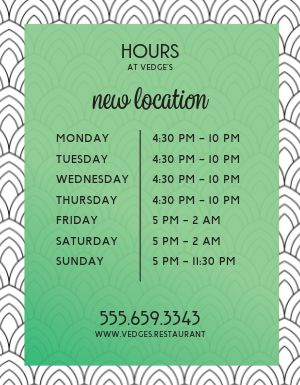 New Business Hours Flyer