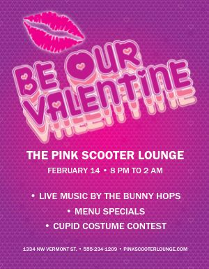 Valentines Bar Flyer
