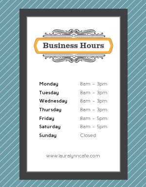 Business Hours Sign Flyer