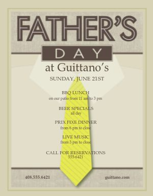 Fathers Day Flier
