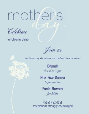 Mothers Day Restaurant Flyer