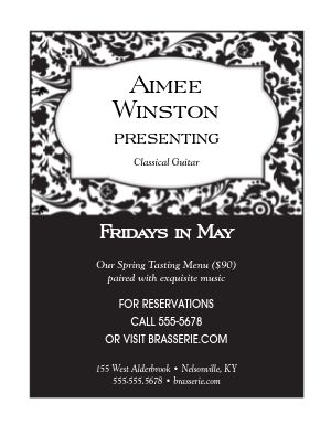 Fine Restaurant Event Flyer