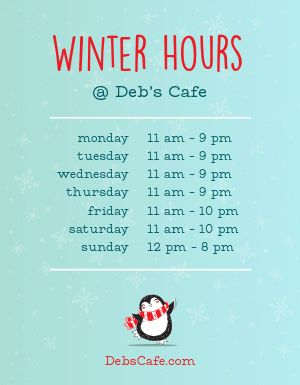 Winter Hours Flyer