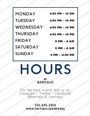 Modern Business Hours Flyer