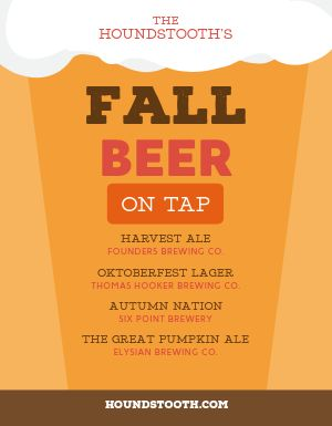 Fall Beer Flyer