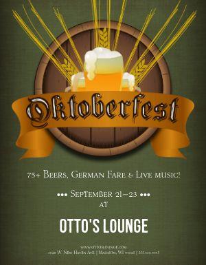 Oktoberfest Bar Flyer