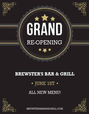 Grand Reopening Flyer