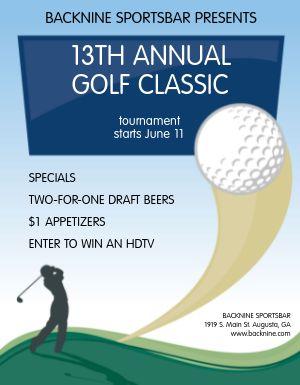 Golf Open Flyer