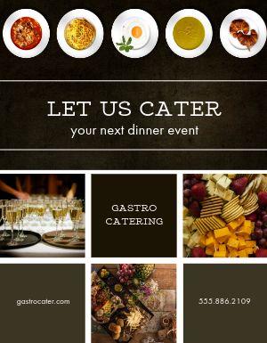Dinner Catering Flyer
