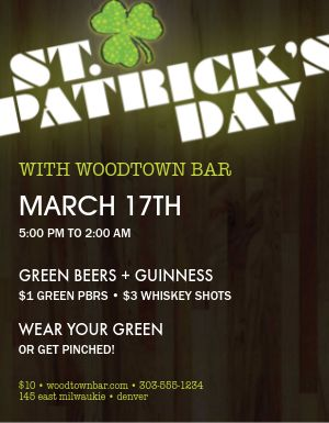St Patricks Event Flyer