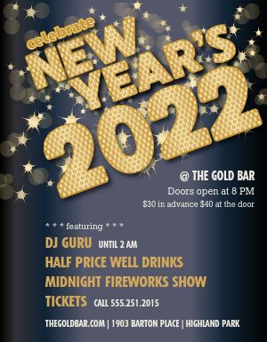 New Years Eve Flyer