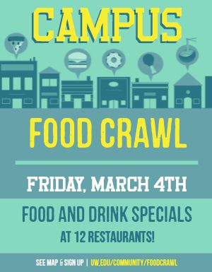 Campus Food Crawl Flyer