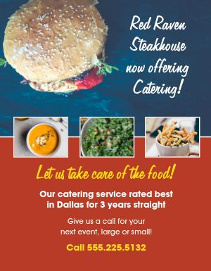 Cafe Catering Flyer