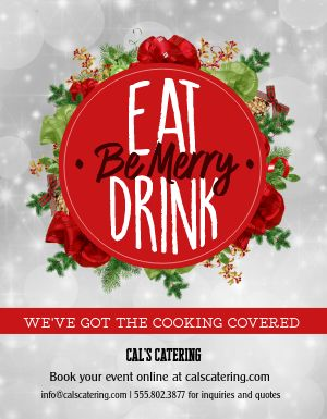Christmas Party Catering Flyer