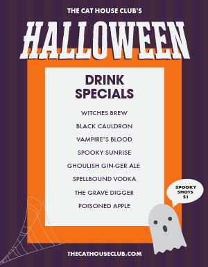 Halloween Drinks Flyer