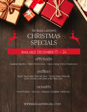 Restaurant Christmas Specials Flyer