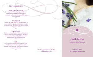 Spa Salon Trifold Menu