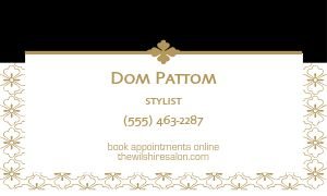 Salon Services Business Card
