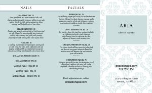 Beauty Salon Trifold Menu