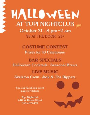 Halloween Bar Flyer