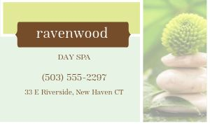 Spa Treatment Business Card
