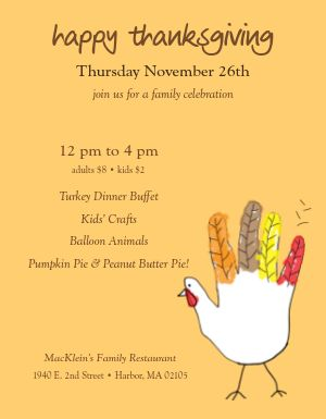 Family Thanksgiving Flyer
