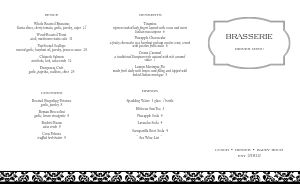 Fine Restaurant Folded Menu
