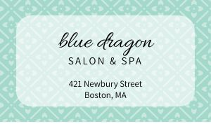 Spa Beauty Business Card