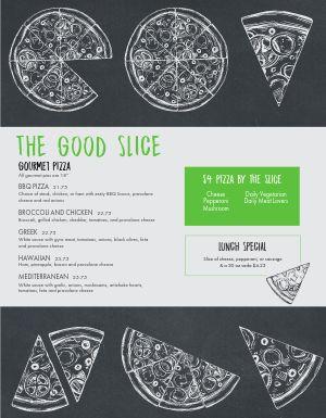 Modern Pizza Menu