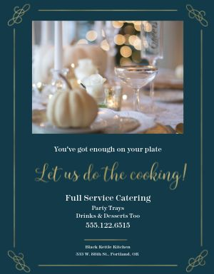 Winter Catering Flyer