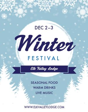 Winter Festival Flyer